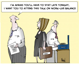 Work Life Balance Cartoon