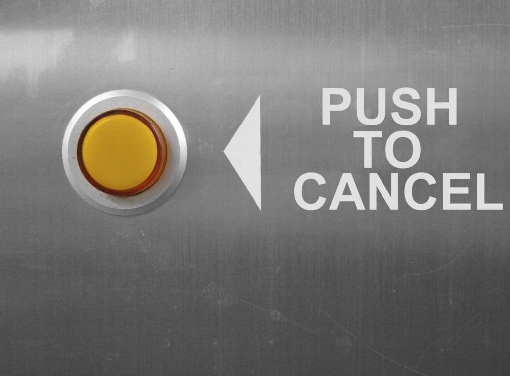 Push to Cancel Button
